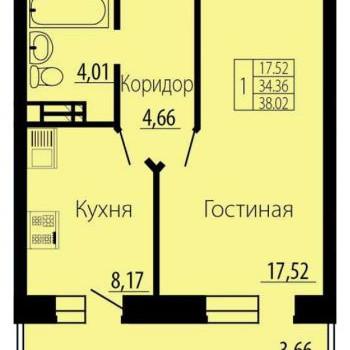 ЖК Русский Авангард (Воронеж) – планировка №6