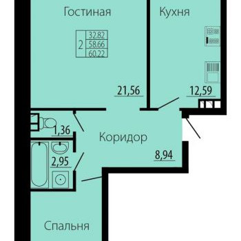 ЖК Русский Авангард (Воронеж) – планировка №2