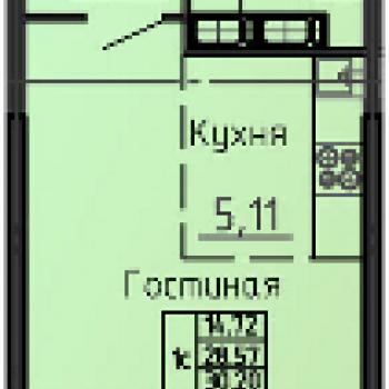 ЖК на Ипподромной (Воронеж) – планировка №1