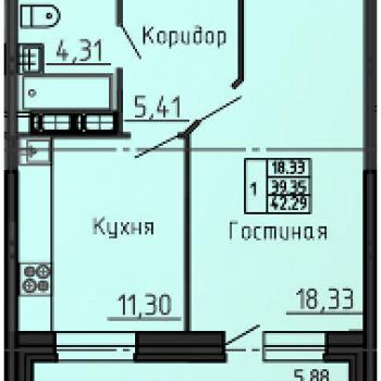 ЖК на Ипподромной (Воронеж) – планировка №3
