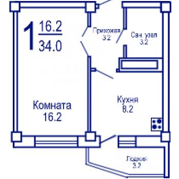 ЖК на Ленинградской (Воронеж) – планировка №1