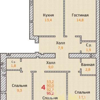 ЖК Острова (Воронеж) – планировка №1