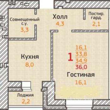 ЖК Острова (Воронеж) – планировка №3