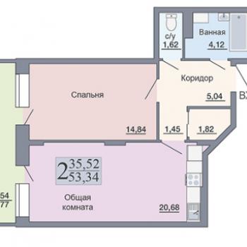 ЖК Галактика (Воронеж) – планировка №3