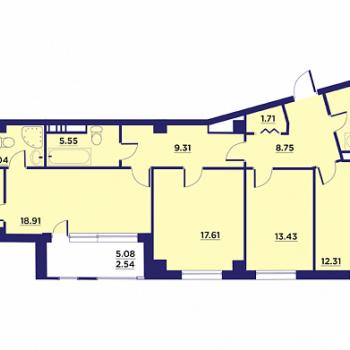 Клубный дом Гран-При (Воронеж) – планировка №2