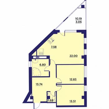 Клубный дом Гран-При (Воронеж) – планировка №8