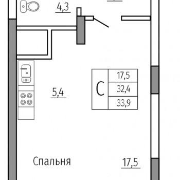 ЖК Солнечный сквер (Воронеж) – планировка №7