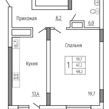 ЖК Солнечный сквер (Воронеж) – планировка №6