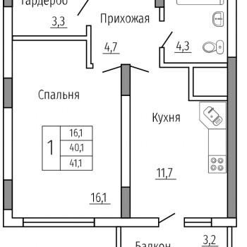 ЖК Солнечный сквер (Воронеж) – планировка №5
