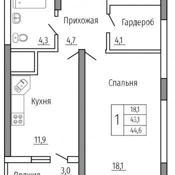 ЖК Солнечный сквер (Воронеж) – планировка №4