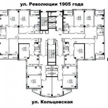 ЖК Финист (Воронеж) – планировка №3