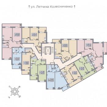 ЖК Розмарин (Воронеж) – планировка №1