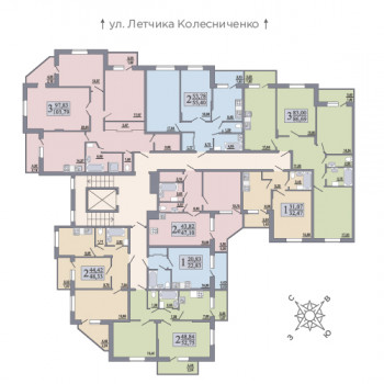 ЖК Розмарин (Воронеж) – планировка №9