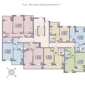 ЖК Розмарин (Воронеж) – планировка №6