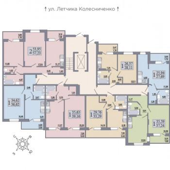 ЖК Розмарин (Воронеж) – планировка №5
