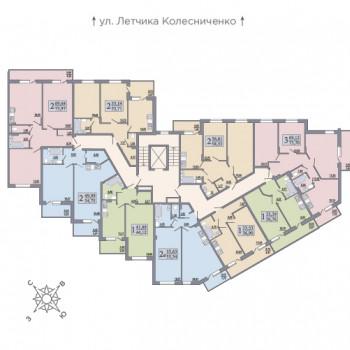 ЖК Розмарин (Воронеж) – планировка №2