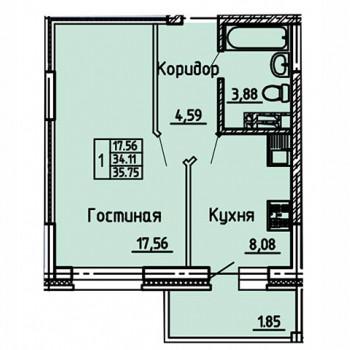 ЖК Статус (Воронеж) – планировка №6