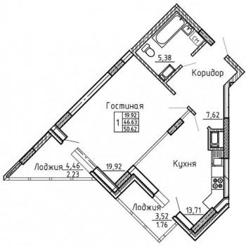 ЖК Статус (Воронеж) – планировка №5