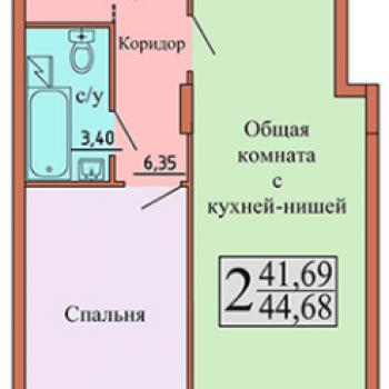 ЖК Чайка (Воронеж) – планировка №6