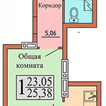 ЖК Чайка (Воронеж) – планировка №7
