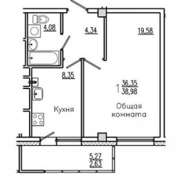 ЖК Прометей (Якутск) – планировка №2