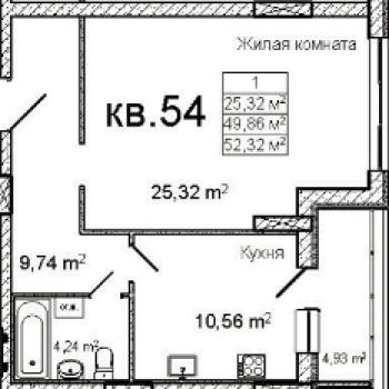 ЖК на Кучерском (Ярославль) – планировка №1