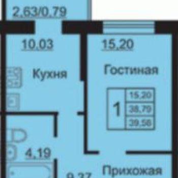 ЖК На Институтской (Ярославль) – планировка №1