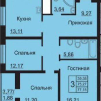 ЖК На Институтской (Ярославль) – планировка №2