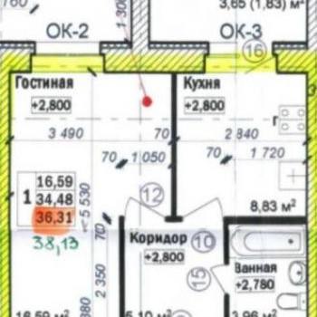 ЖК Экоквартал (Ярославль) – планировка №1
