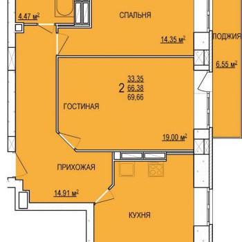 ЖК Радуга (Ярославль) – планировка №1