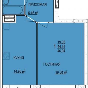 ЖК Радуга (Ярославль) – планировка №2