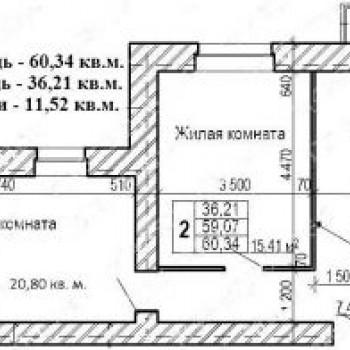 ЖК Мостец (Ярославль) – планировка №1