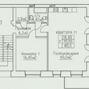 ЖК Некрасовский (Ярославль) – планировка №1