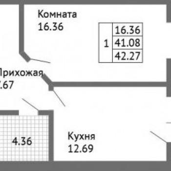 ЖК Дом на Совхозной (Ярославль) – планировка №1