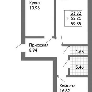 ЖК Дом на Совхозной (Ярославль) – планировка №2