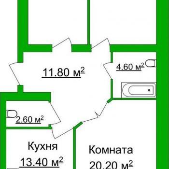 ЖК Лесная сказка (Ярославль) – планировка №1