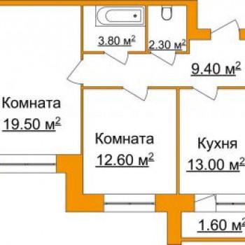 ЖК Лесная сказка (Ярославль) – планировка №3