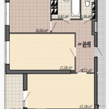 ЖК Мегаполис (Ярославль) – планировка №3