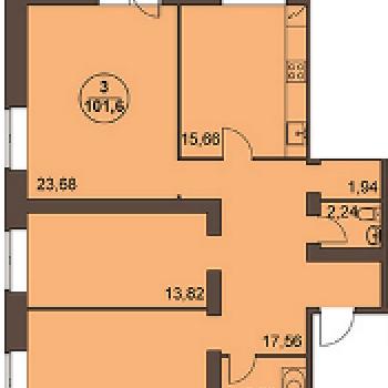 ЖК Медовый дом (Ярославль) – планировка №2