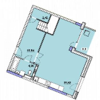 ЖК Центральный (Ярославль) – планировка №2