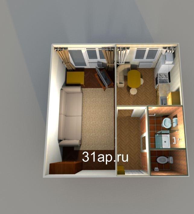 Белгород — 1-комн. квартира, 39 м² – Ский, 48 (39 м²) — Фото 1
