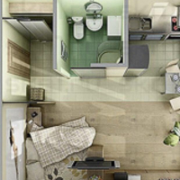 1-комнатная квартира, этаж 4/5, 25 м²